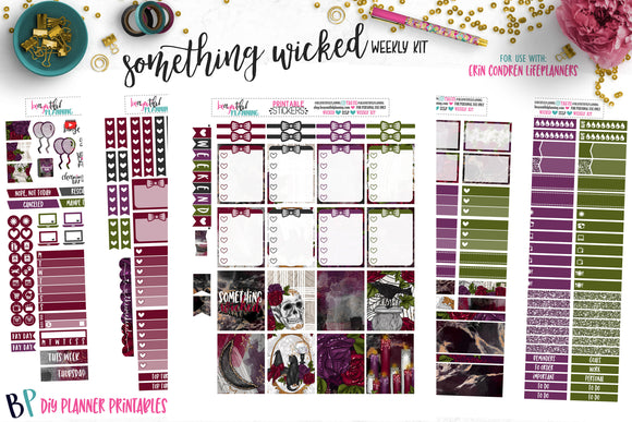 Something Wicked Weekly Printable
