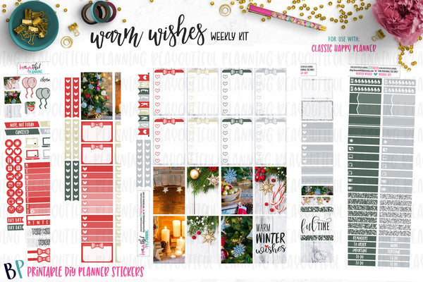 Warm Winter Wishes Weekly Printable