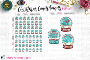 Christmas Globes Countdowns Printable
