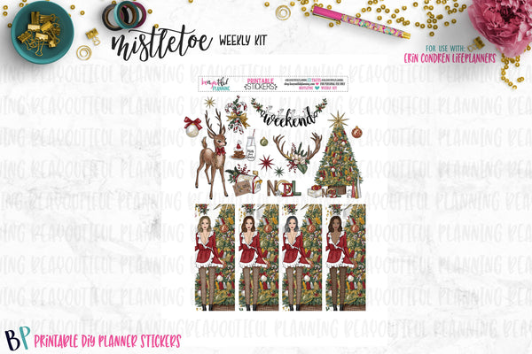 Mistletoe Christmas Weekly Printable