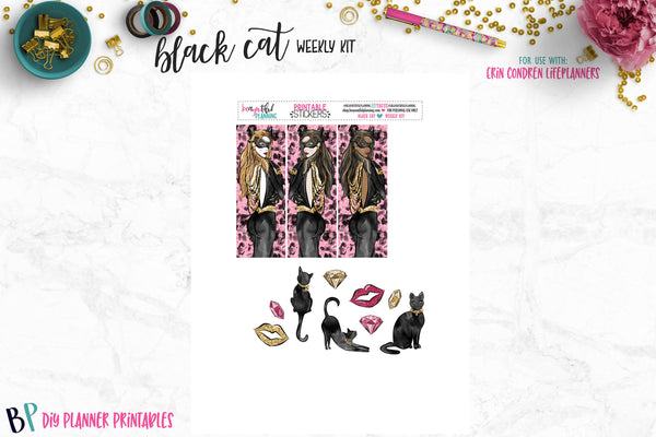 Black Cat Printable