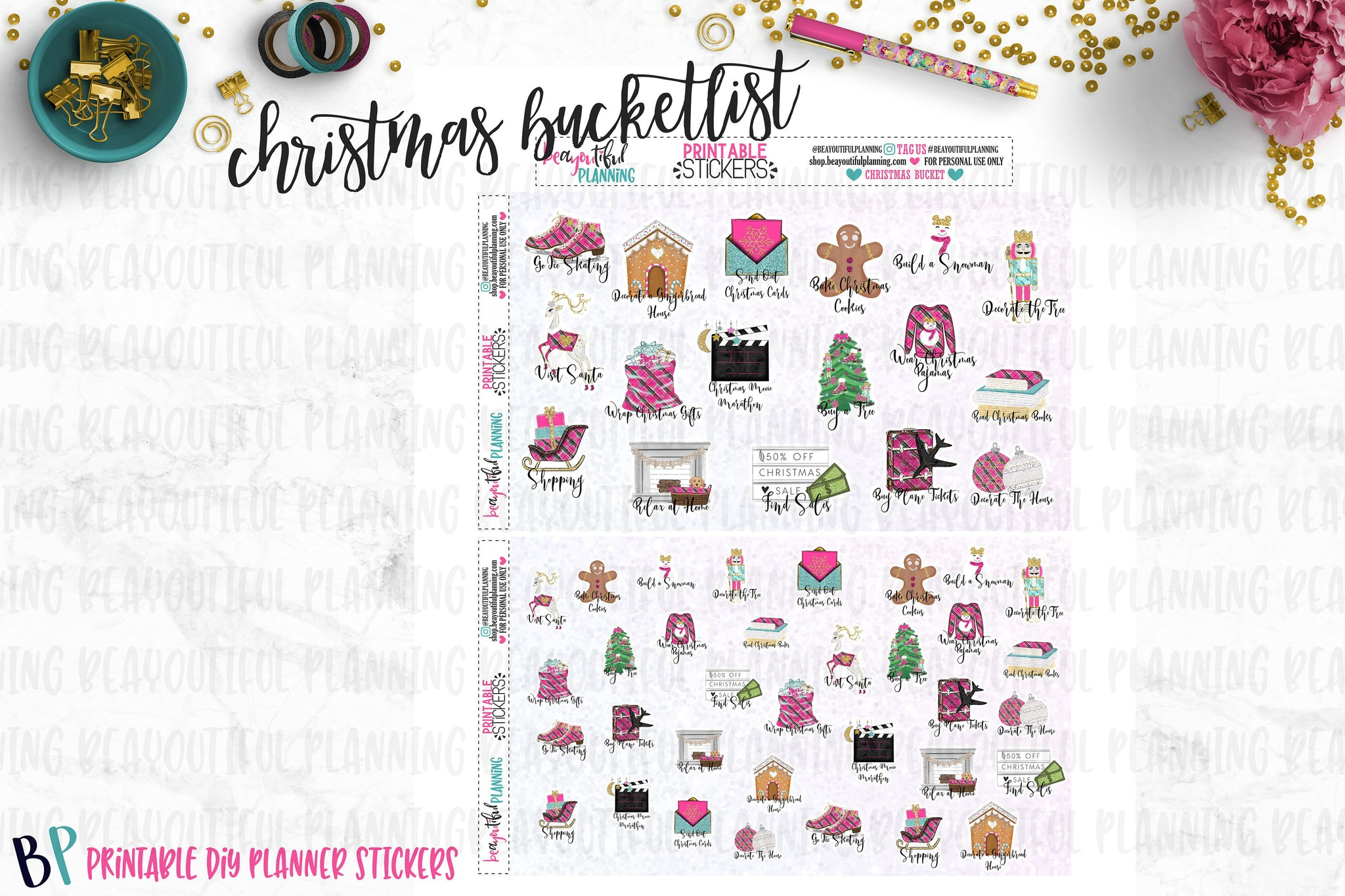 Christmas Bucket List Printables