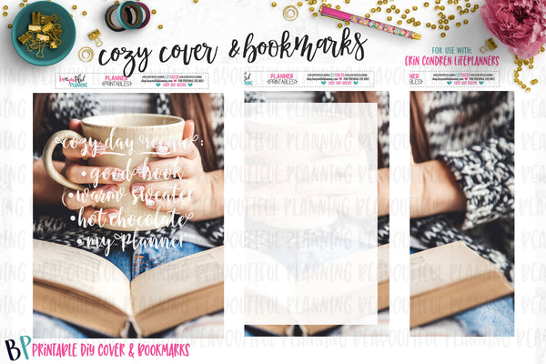 Cozy DIY Cover & Bookmarks Printable