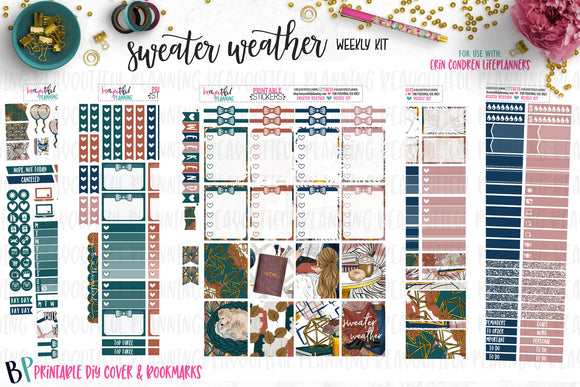 Sweater Weather Weekly Printable