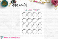 Gratitude Notes Page Circles Printable