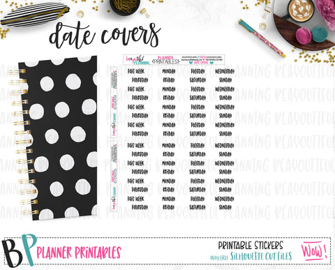 Date Covers Printable