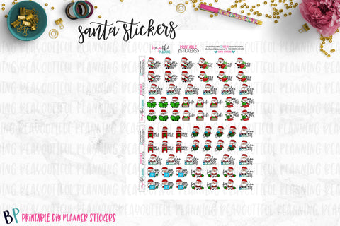 Santa Planner Stickers Printable