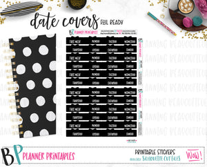 Bow Date Covers Printable
