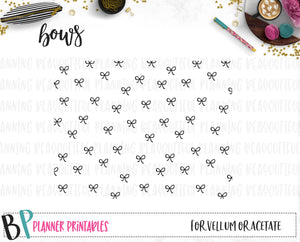 Bow Foil Ready Vellum Acetate Printable