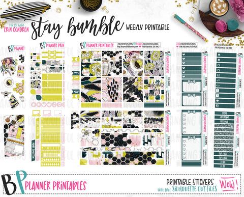 Stay Bumble Weekly Printable