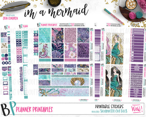 I'm a Mermaid Weekly Printable