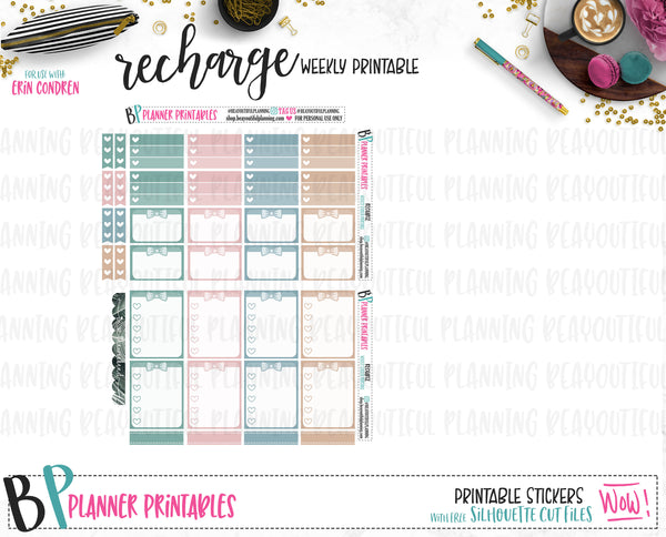 Recharge Weekly Printable