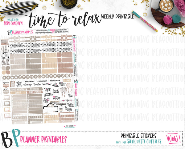 Time to Relax  Weekly Printable