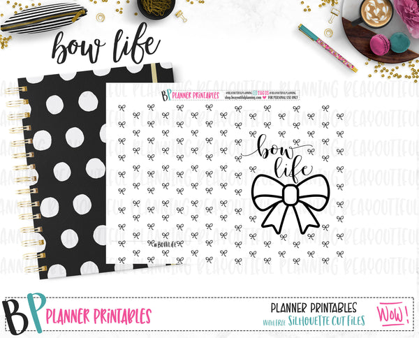 Bow Life B6 Dashboard Foil Ready Printable