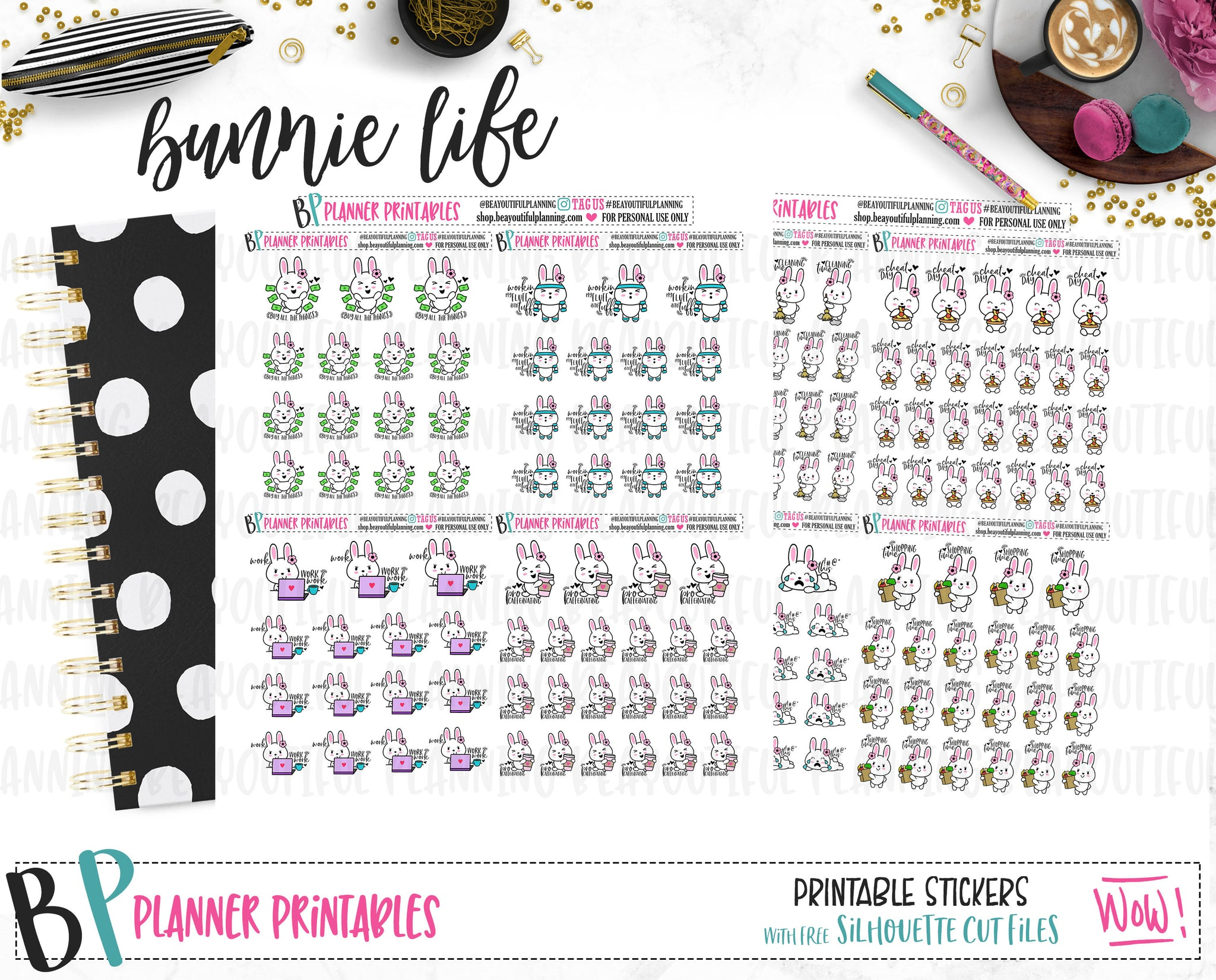 Bunnies Set #2 Printable