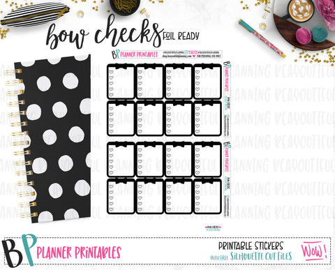 Bow Checks Planner Printable