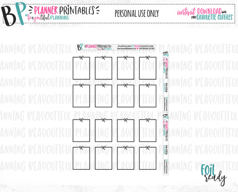Bow Full Box Overlays Foil Ready Printable