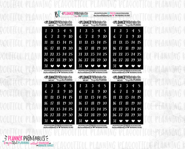Date Dots Printable