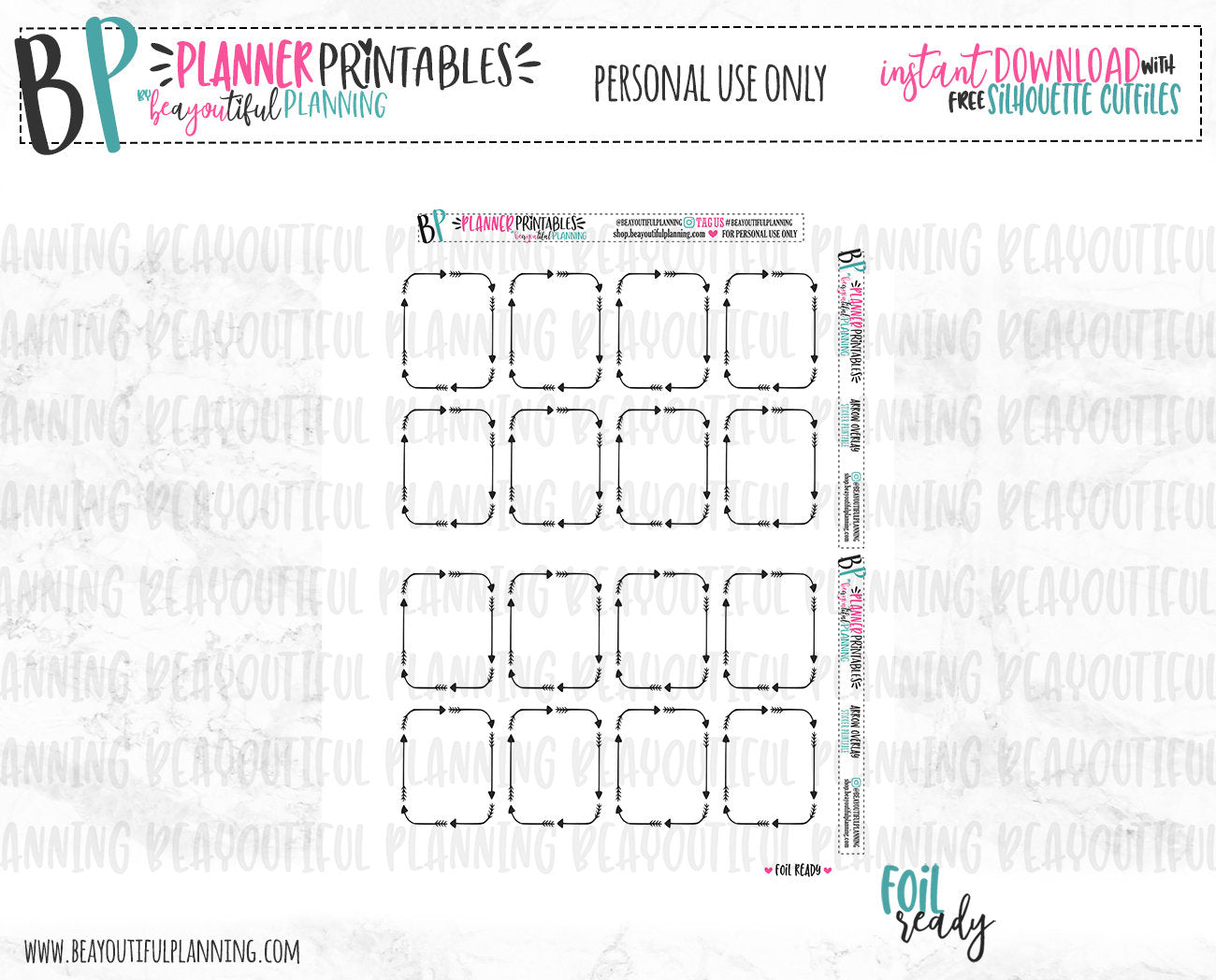 Arrow Overlays Foil Ready Printable