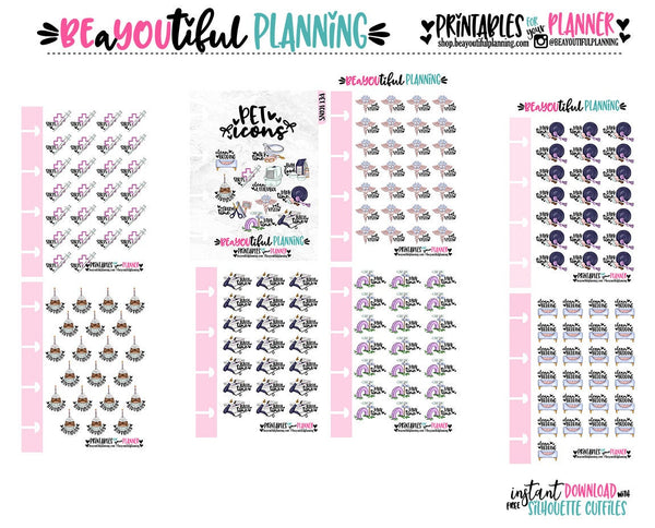 Pet Care Planner Icons