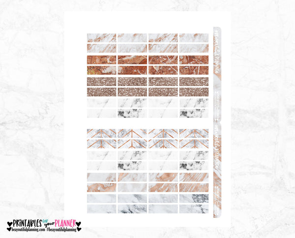 Date Covers Rose Gold Marble Functional Printable
