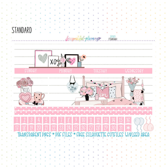 XOXO - Monthly & Notes Printables *Choose Your Planner*