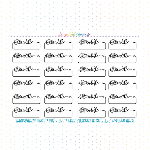 Audible Labels Functional Printables Foil Ready