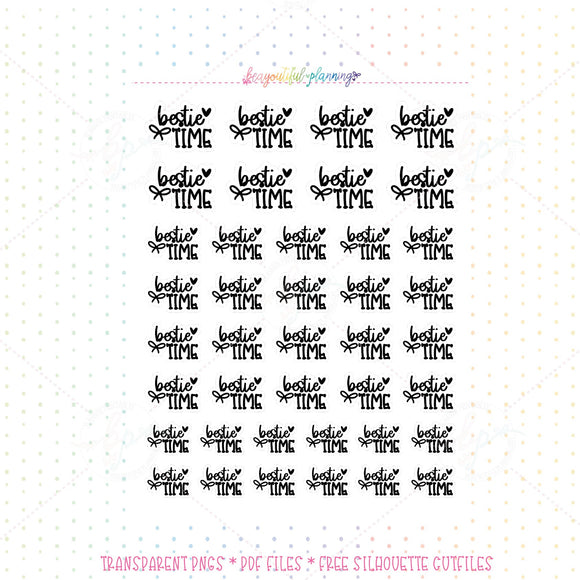 Bestie Time - WordArt Planner Printable