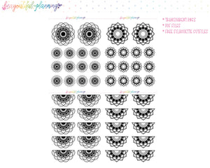 Mandala Set 1 - Foil Ready Planner Printable