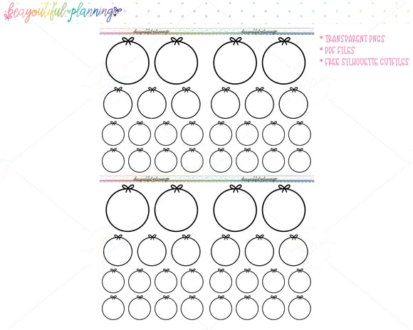 Bow Circles - Foil Ready Planner Printable