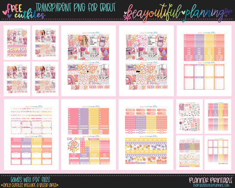 Birthday Day Quarantine - Weekly Planner Printable -Choose from - Vertical - Horizontal