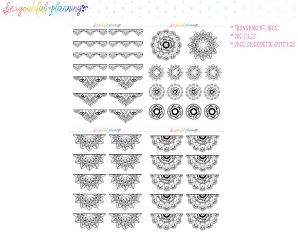 Mandala Set 2 - Foil Ready Planner Printable