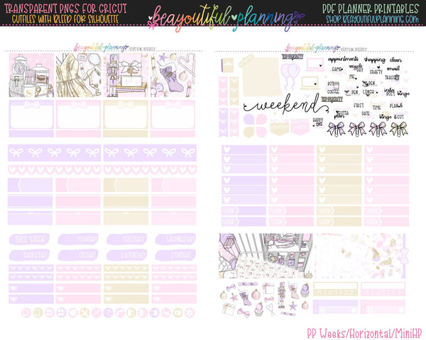 Merry - Weekly Planner Printable -Choose from - Vertical - Horizontal/PP Weeks/MiniHP - Hobo Weeks