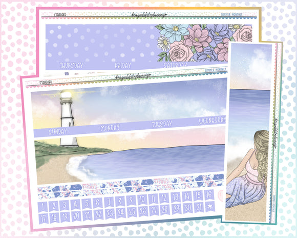 Summer - Monthly Printable *Choose Your Planner*