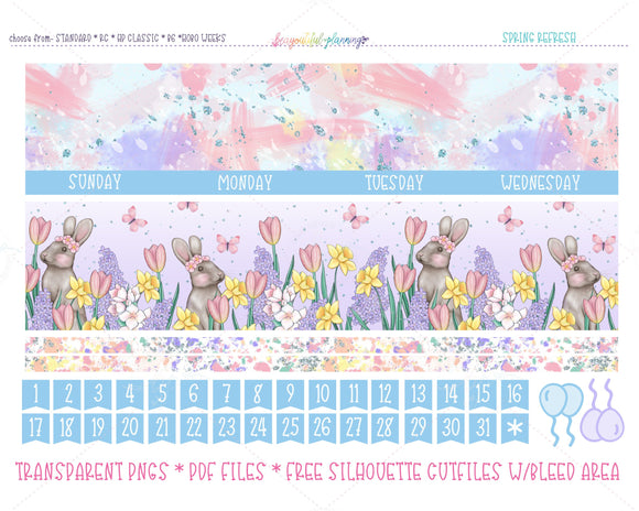 Spring Refresh - Monthly Printable *Choose Your Planner*