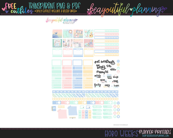 Crossing - Weekly Planner Printable -Choose from - Vertical - PP Weeks - Horizontal