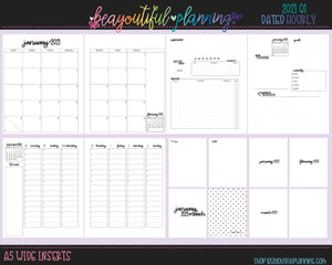 A5 Wide 2021 Hourly Printable Inserts