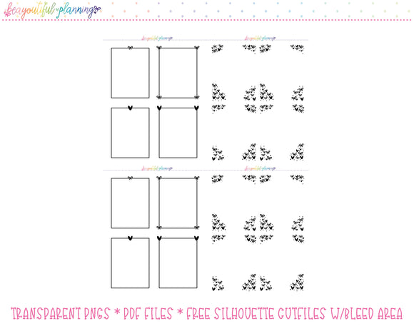 Bow Overlays - Foil Ready Planner Printable