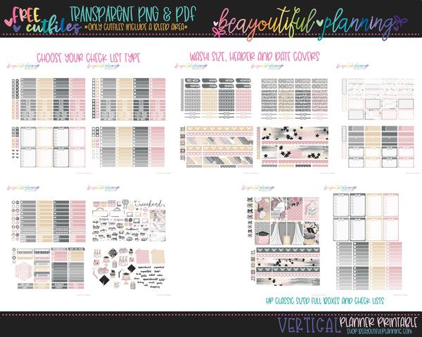 Congrats Grad - Weekly Planner Printable -Choose from - Vertical - PP Weeks - Horizontal