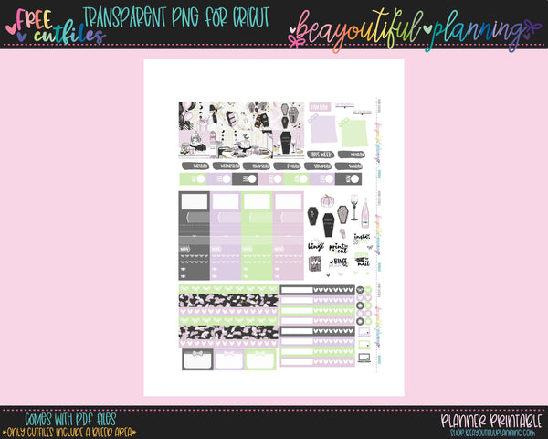 BooDay - Weekly Planner Printable -Choose from - Vertical - Horizontal/PP Weeks/MiniHP - Hobo Weeks