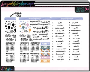 September 2019 Monthly Wacky Holiday Printable