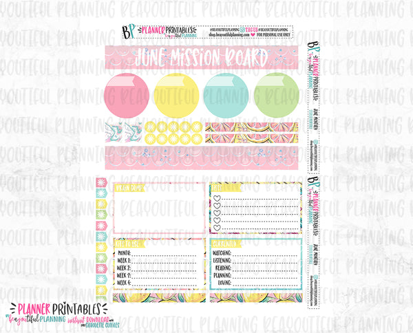 June Notes Page Printable