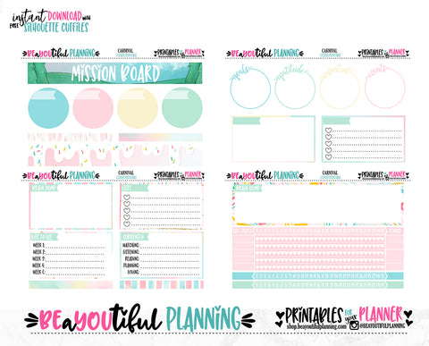 Carnival May Notes Page Printable