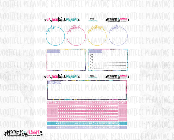 April Notes Page Printable
