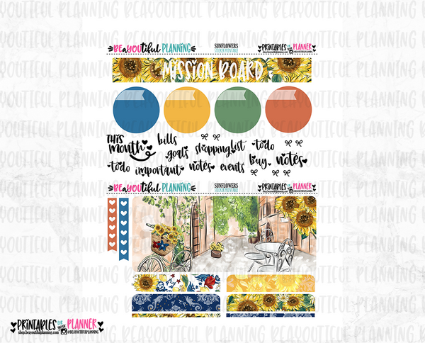 Sunflower Notes Page Printable