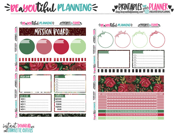 December Notes Page Printable
