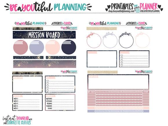 January Notes Page Printable