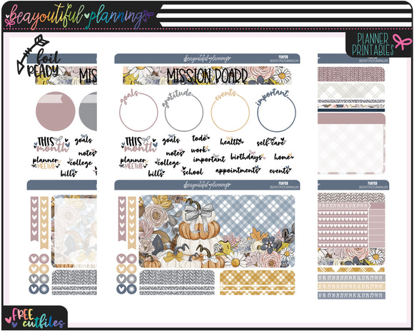 Pumpkins Notes Page Printable