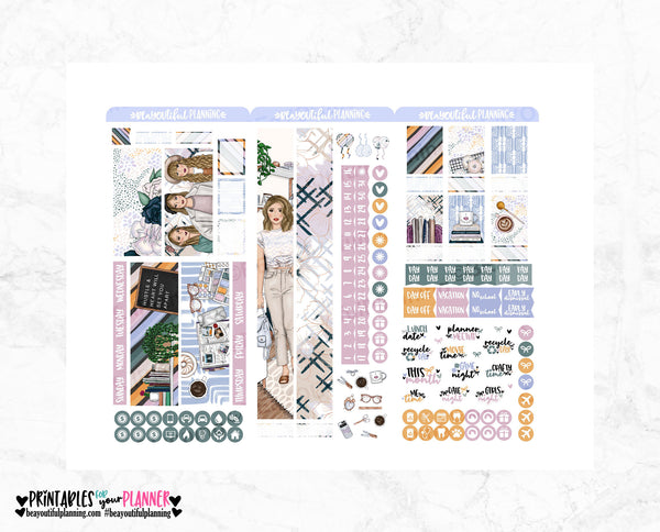 Hustle & Heart  Monthly Printable Print Pressions Weeks
