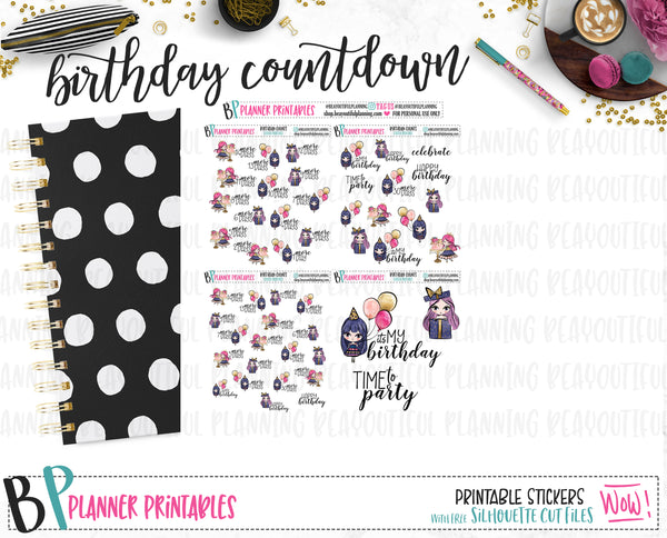 Birthday Countdown Printable